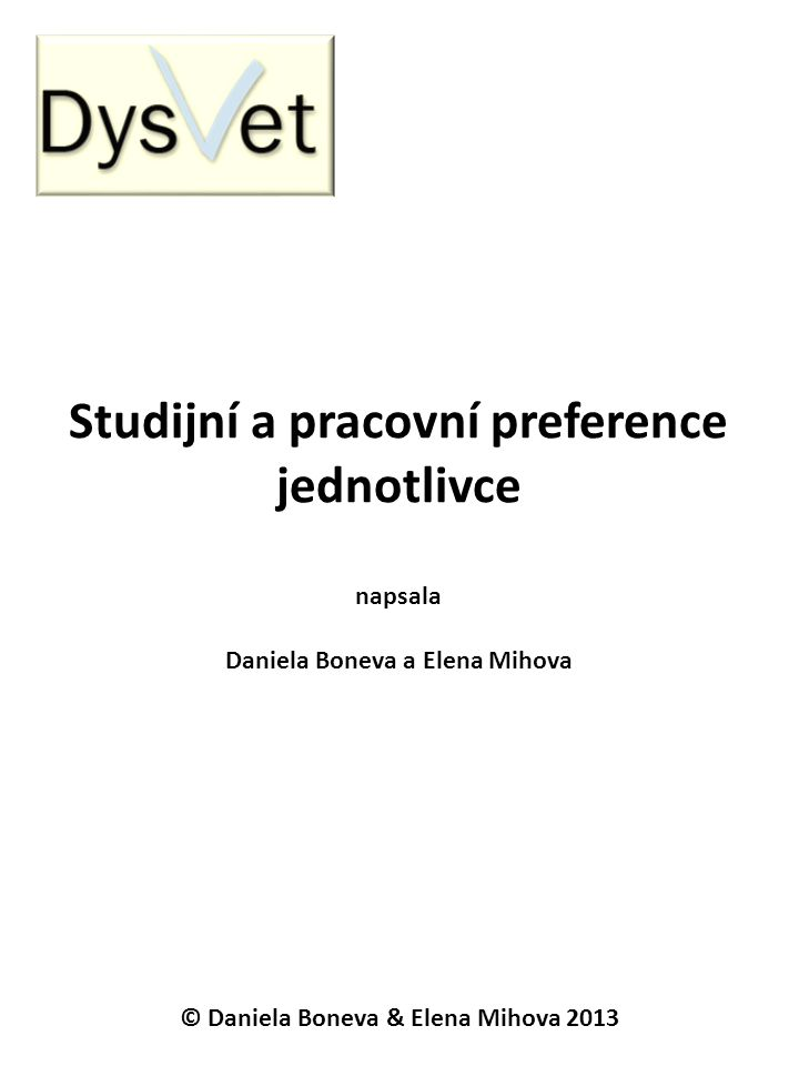 Studijní a pracovní preference jednotlivce