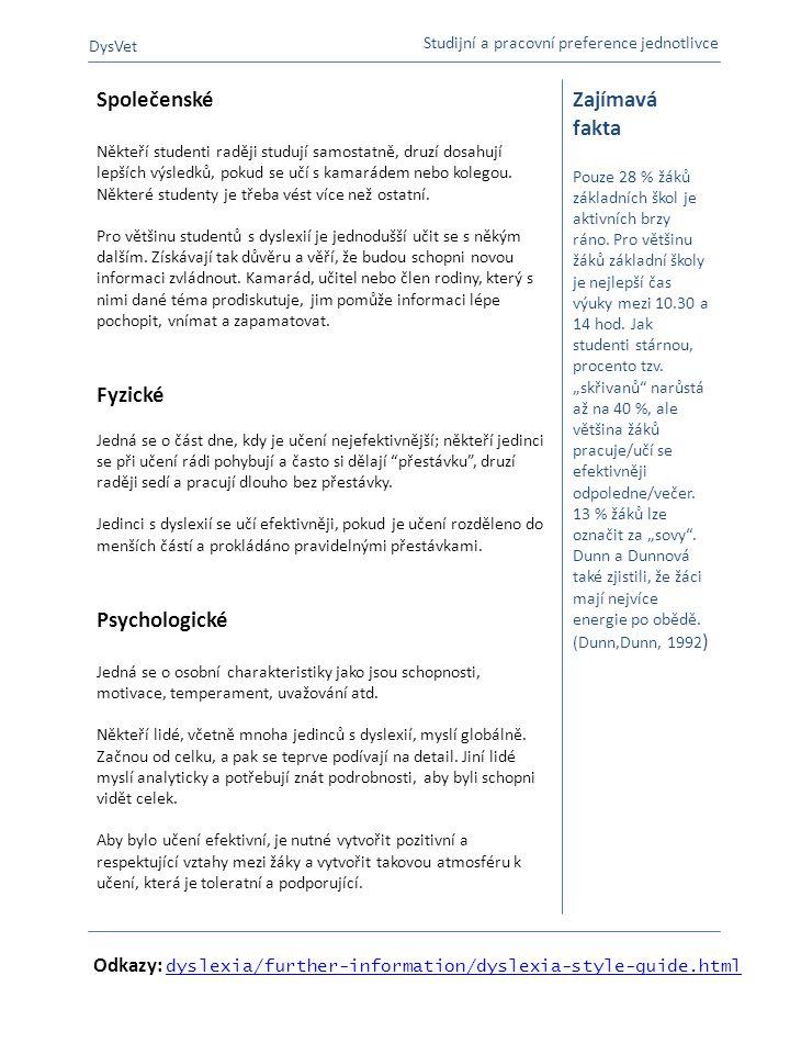 Společenské Fyzické Psychologické Zajímavá fakta