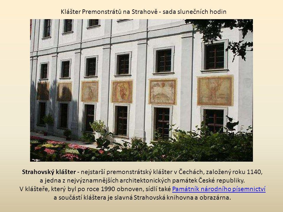 Klášter Premonstrátů na Strahově - sada slunečních hodin