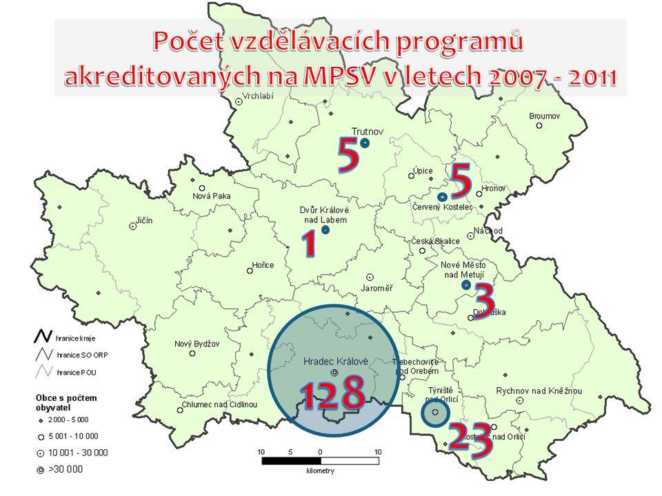5 5 1 3 128 23 Počet vzdělávacích programů