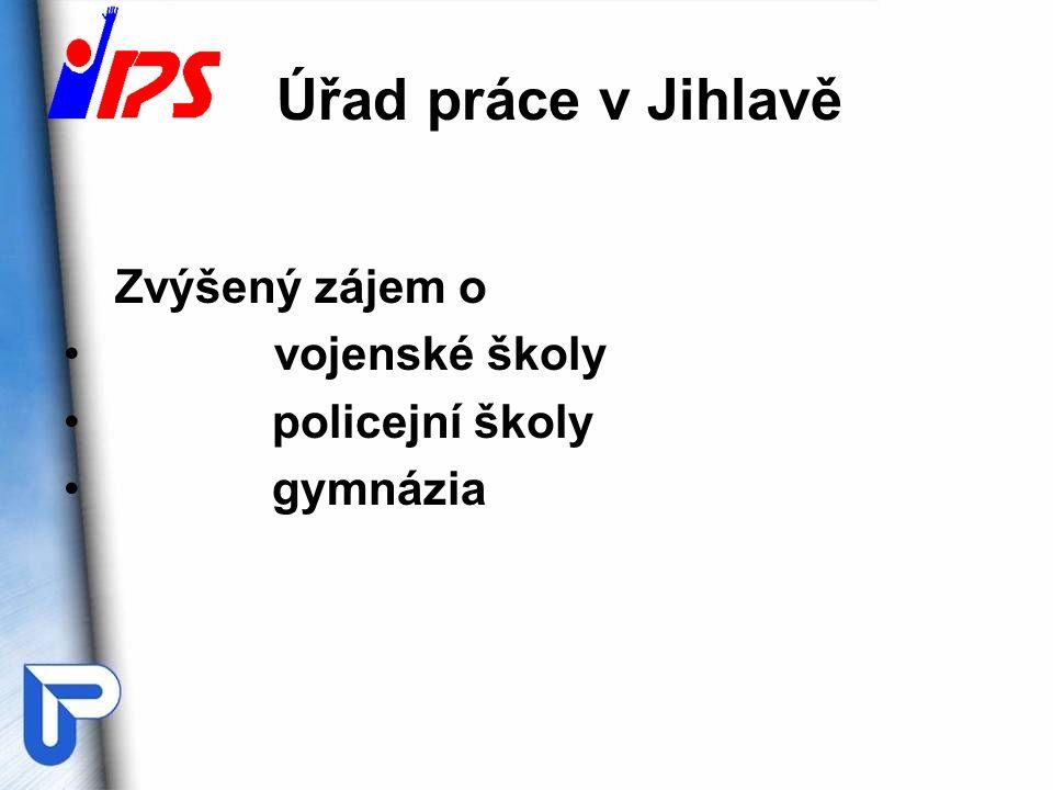 Úřad práce v Jihlavě Zvýšený zájem o vojenské školy policejní školy