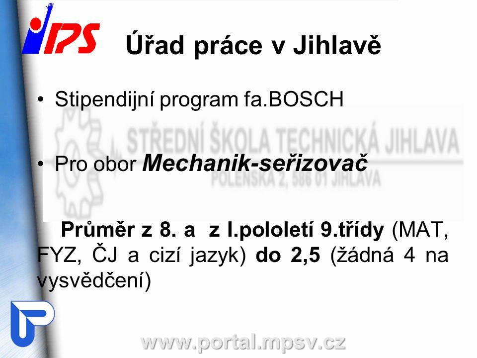 Úřad práce v Jihlavě Stipendijní program fa.BOSCH