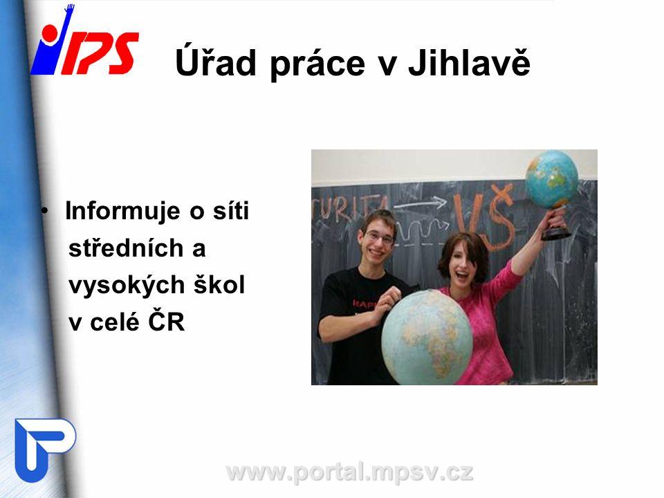 Úřad práce v Jihlavě Informuje o síti středních a vysokých škol