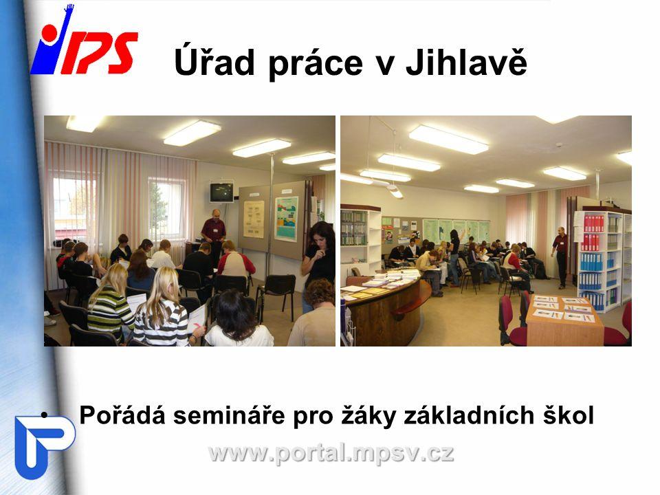 Úřad práce v Jihlavě Pořádá semináře pro žáky základních škol