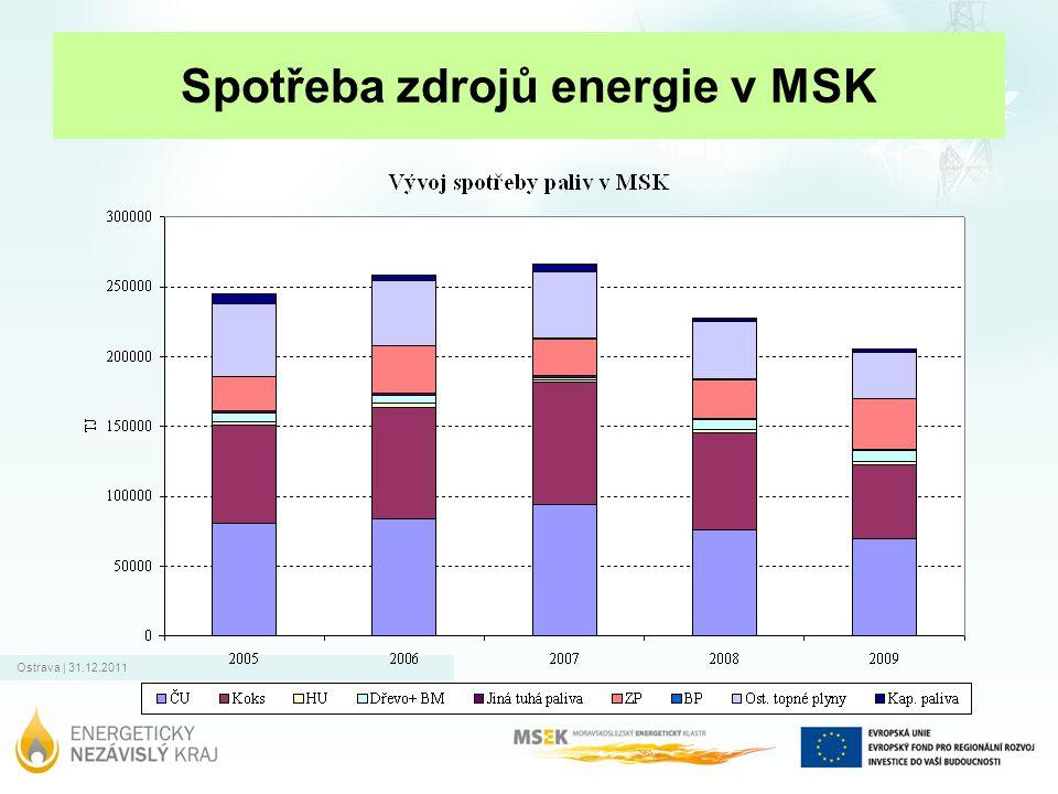 Spotřeba zdrojů energie v MSK