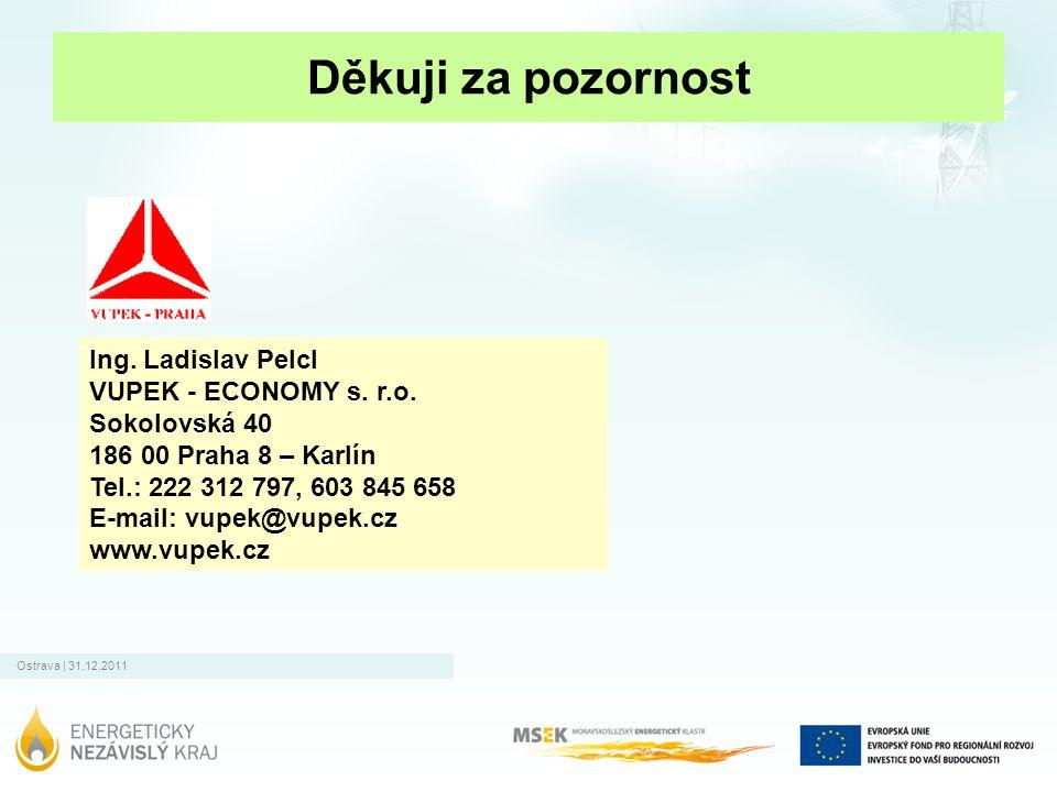 Děkuji za pozornost Ing. Ladislav Pelcl VUPEK - ECONOMY s. r.o.