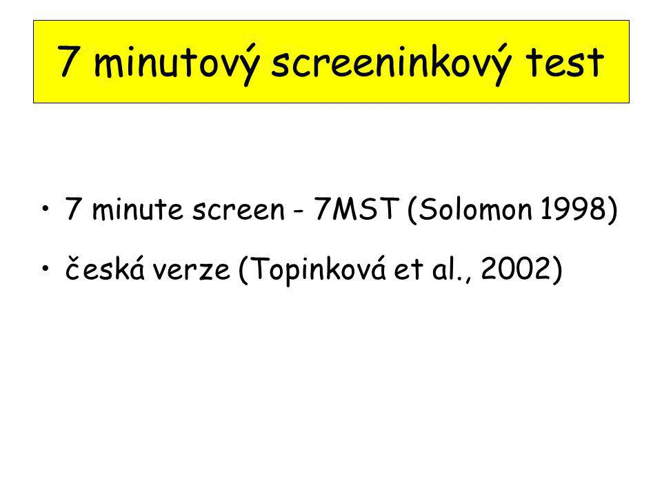 7 minutový screeninkový test