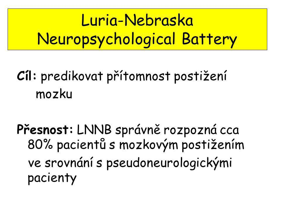 Luria-Nebraska Neuropsychological Battery