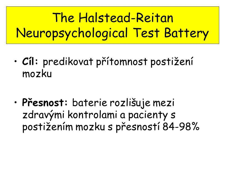 The Halstead-Reitan Neuropsychological Test Battery