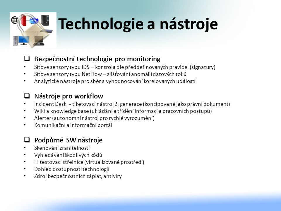 Technologie a nástroje