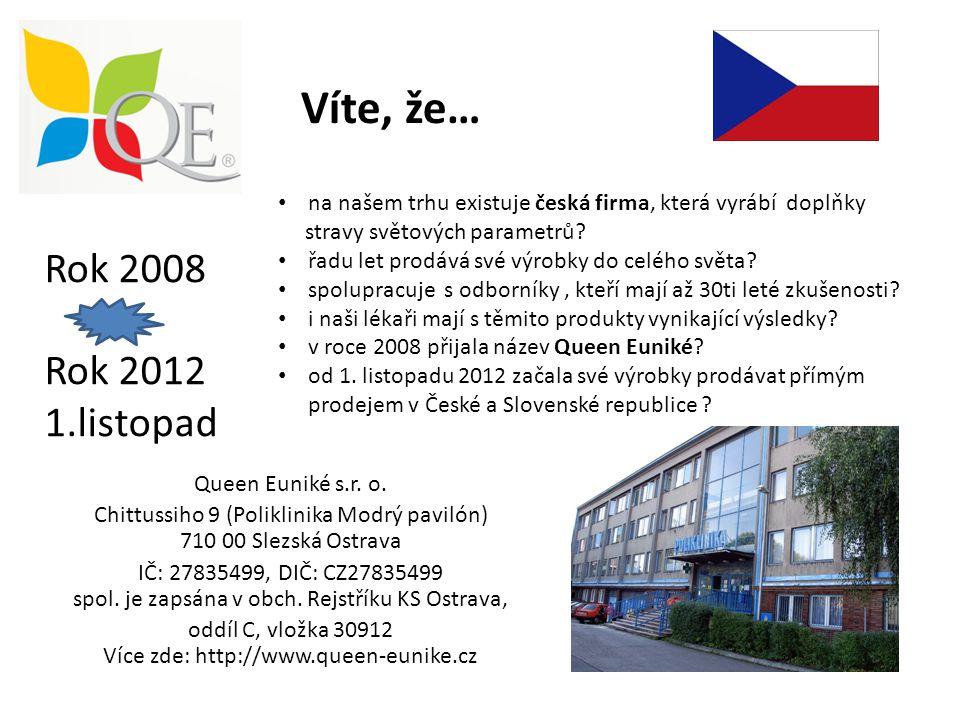 Víte, že… Rok 2008 Rok 2012 1.listopad