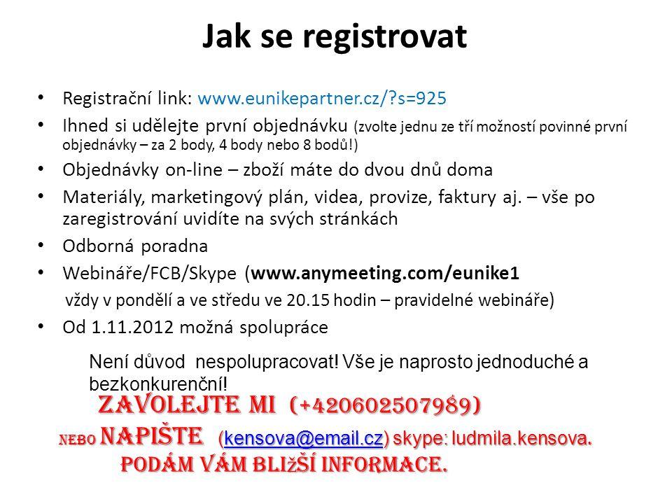 Jak se registrovat Zavolejte mI (+420602507989)