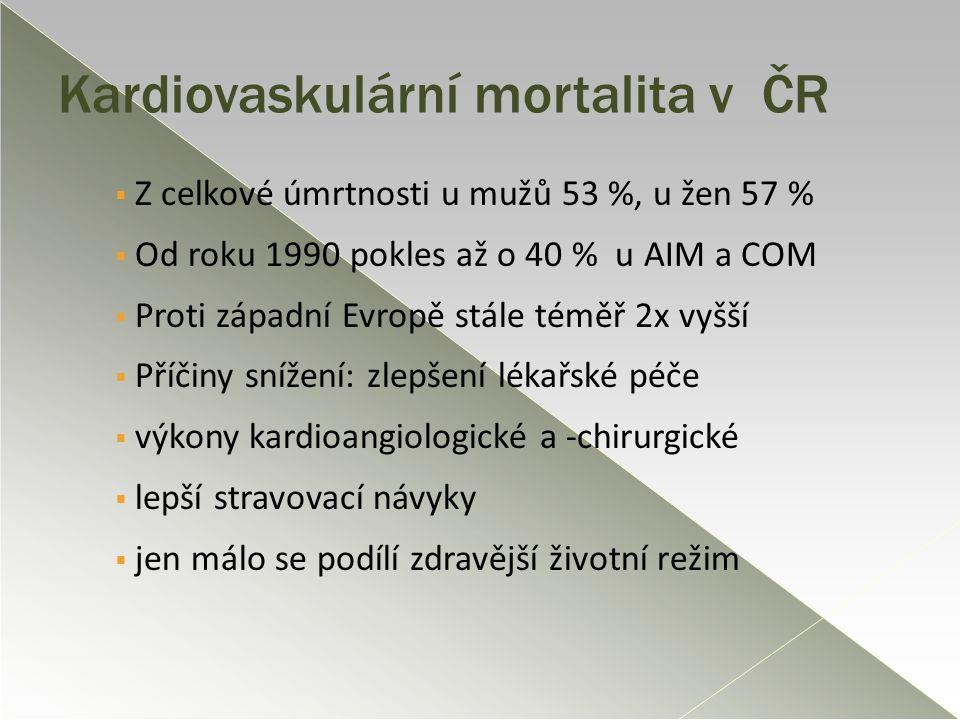 Kardiovaskulární mortalita v ČR