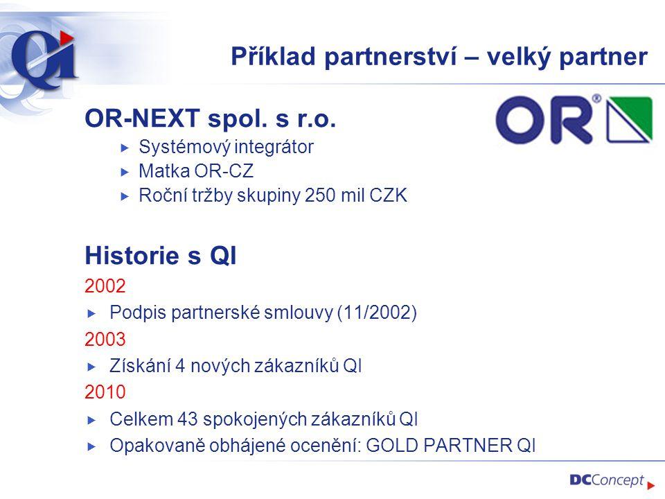 Příklad partnerství – velký partner