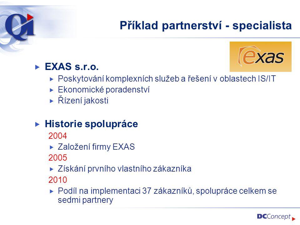 Příklad partnerství - specialista
