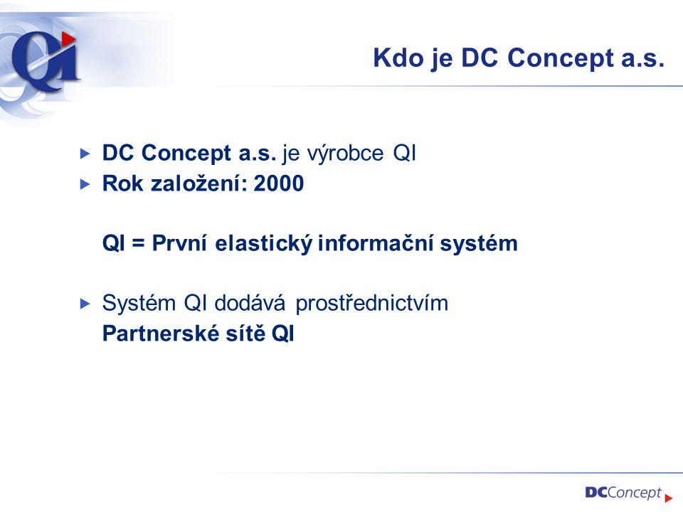 Kdo je DC Concept a.s. DC Concept a.s. je výrobce QI