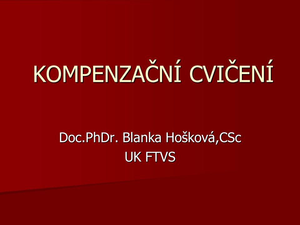 Doc.PhDr. Blanka Hošková,CSc UK FTVS