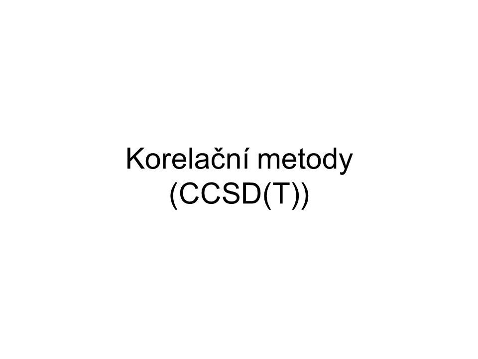 Korelační metody (CCSD(T))