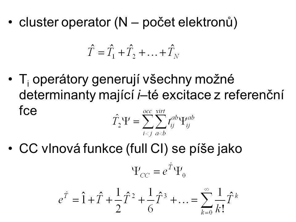 cluster operator (N – počet elektronů)