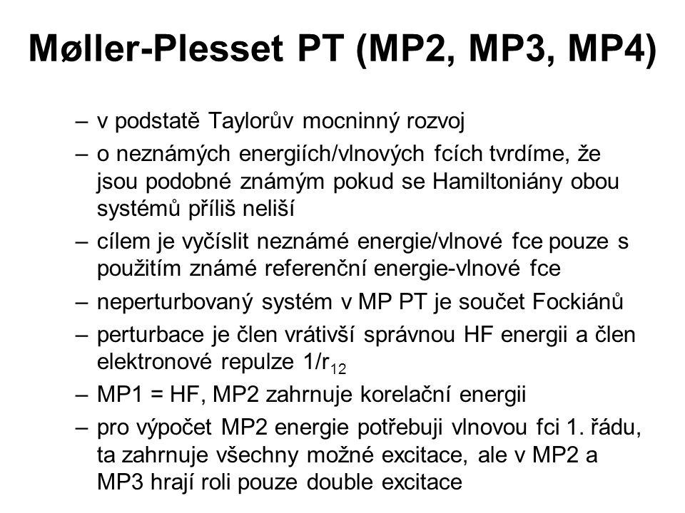 Møller-Plesset PT (MP2, MP3, MP4)