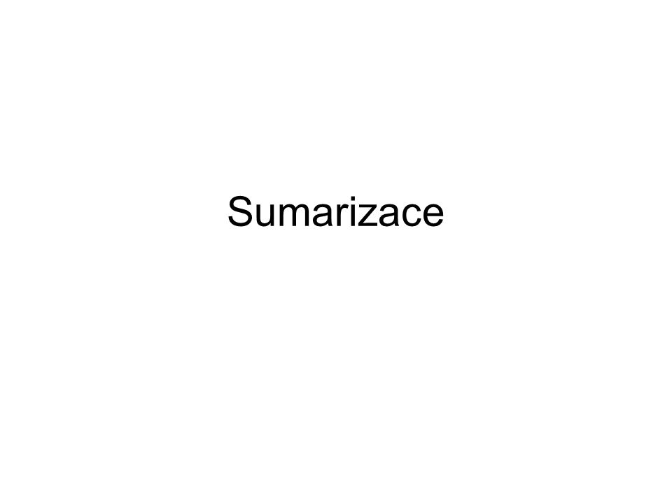 Sumarizace
