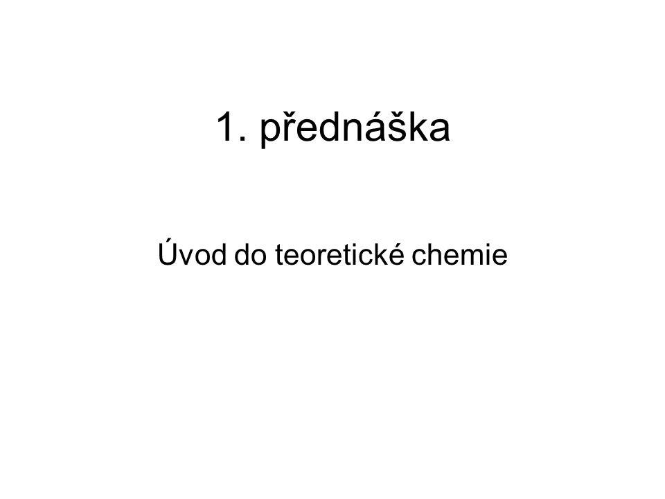 Úvod do teoretické chemie