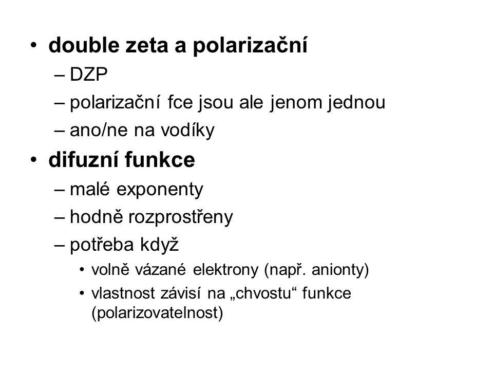 double zeta a polarizační