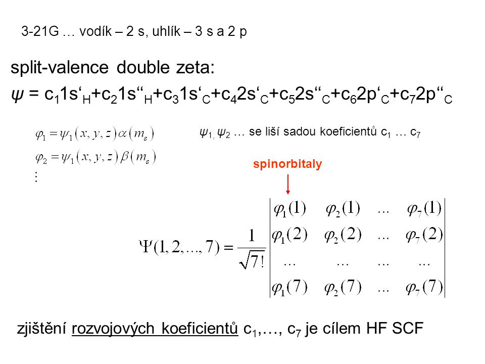 split-valence double zeta: