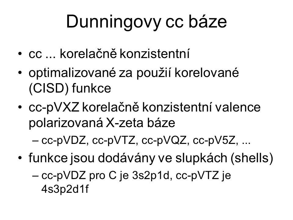 Dunningovy cc báze cc ... korelačně konzistentní
