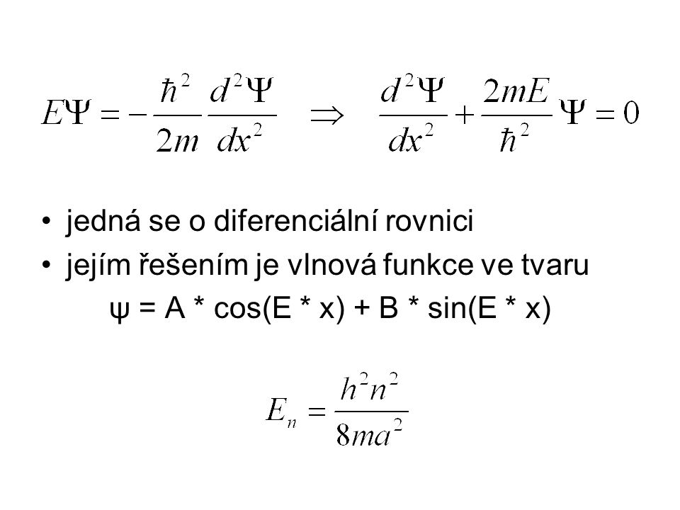 jedná se o diferenciální rovnici