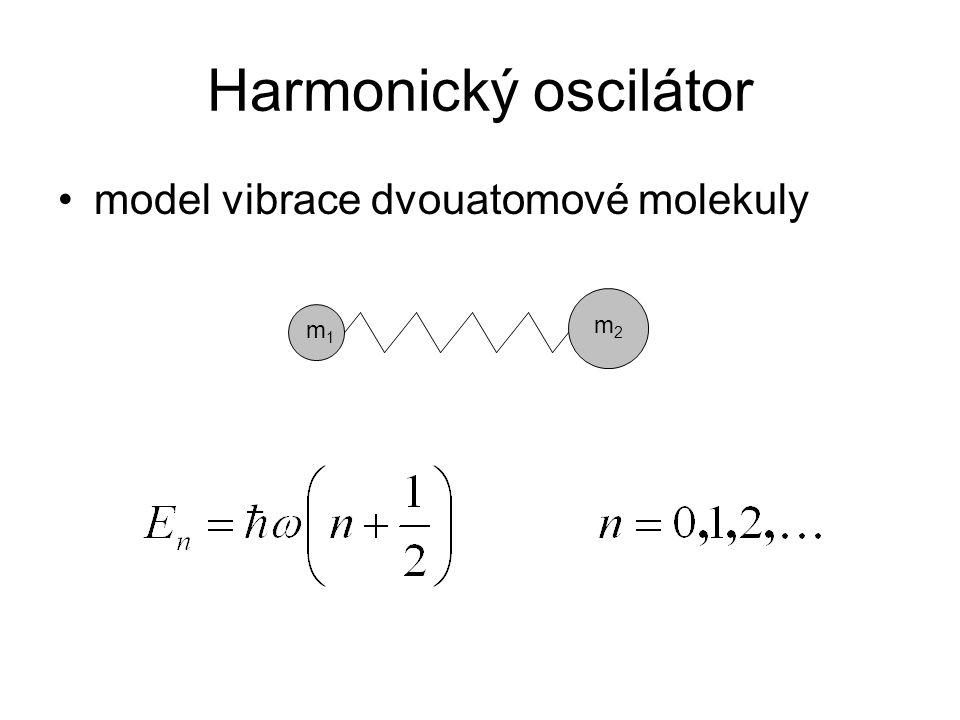 Harmonický oscilátor model vibrace dvouatomové molekuly m2 m1