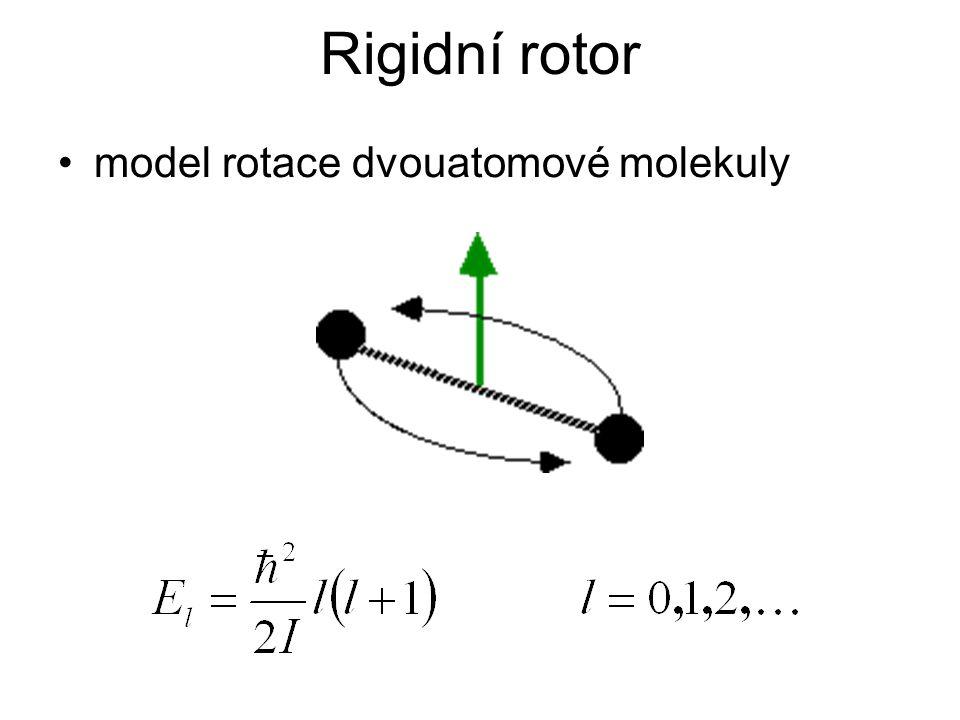 Rigidní rotor model rotace dvouatomové molekuly
