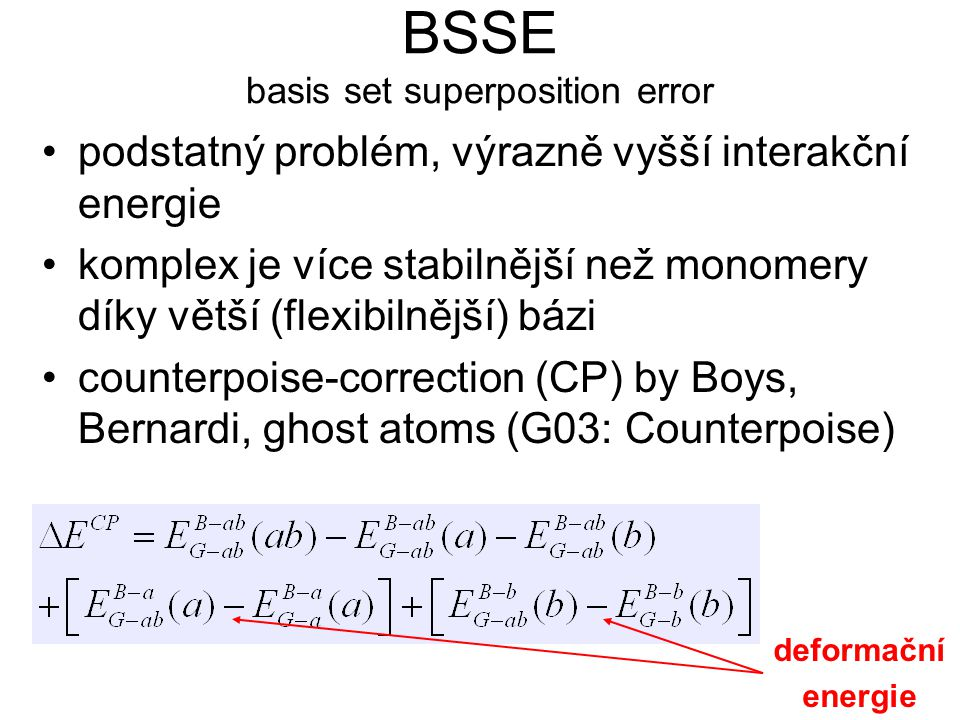BSSE basis set superposition error