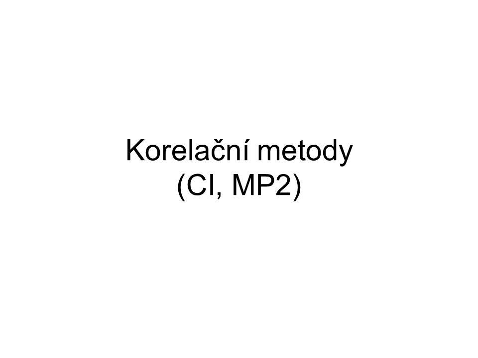 Korelační metody (CI, MP2)