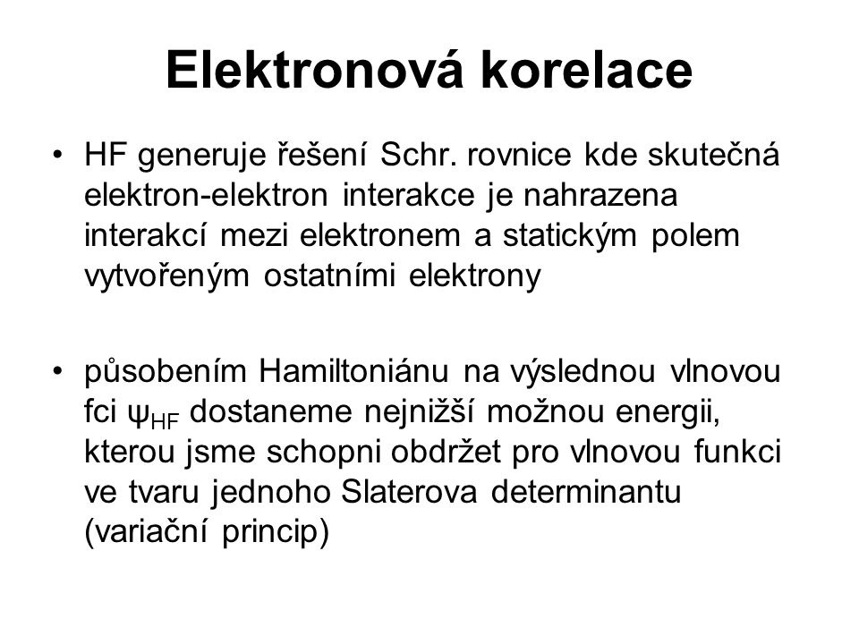 Elektronová korelace