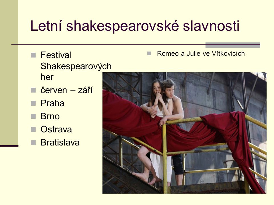 Letní shakespearovské slavnosti