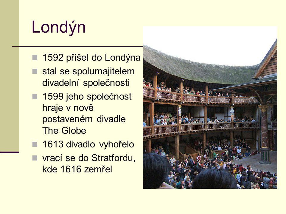Londýn 1592 přišel do Londýna