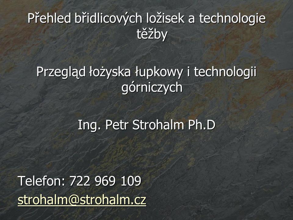 Přehled břidlicových ložisek a technologie těžby