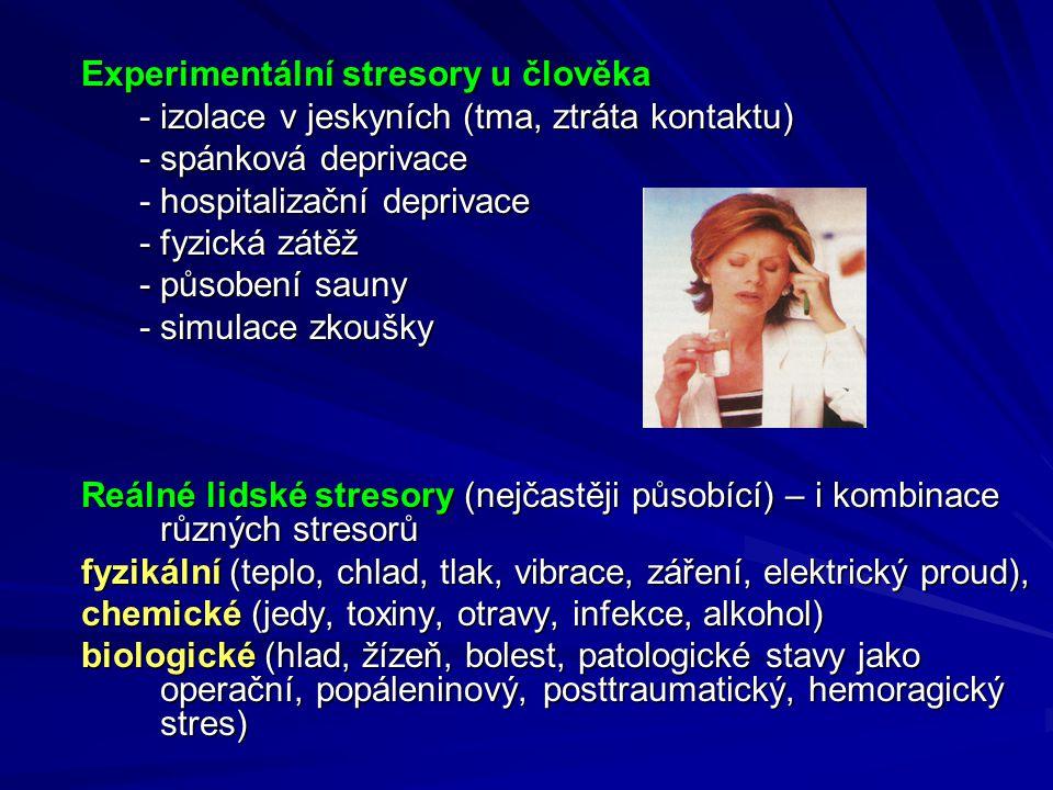Experimentální stresory u člověka