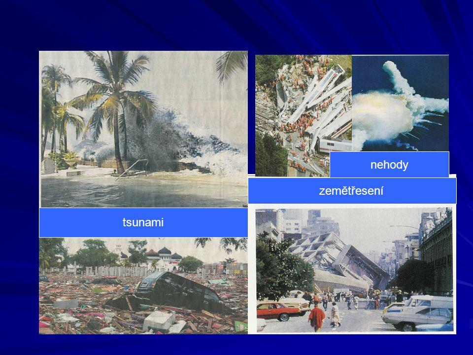 nehody zemětřesení tsunami