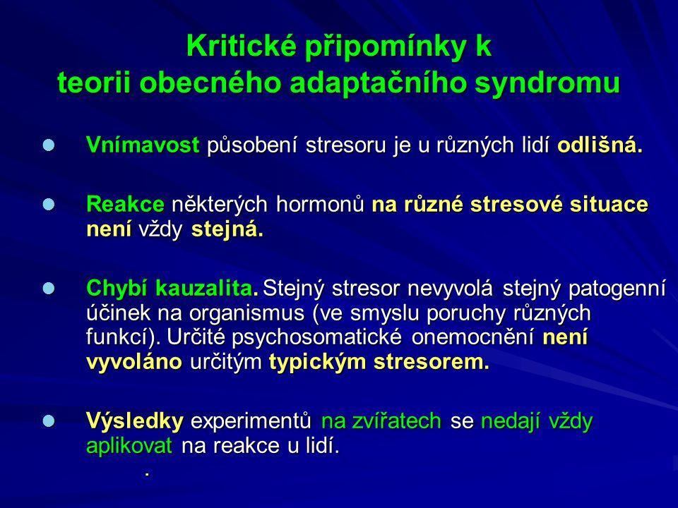 Kritické připomínky k teorii obecného adaptačního syndromu