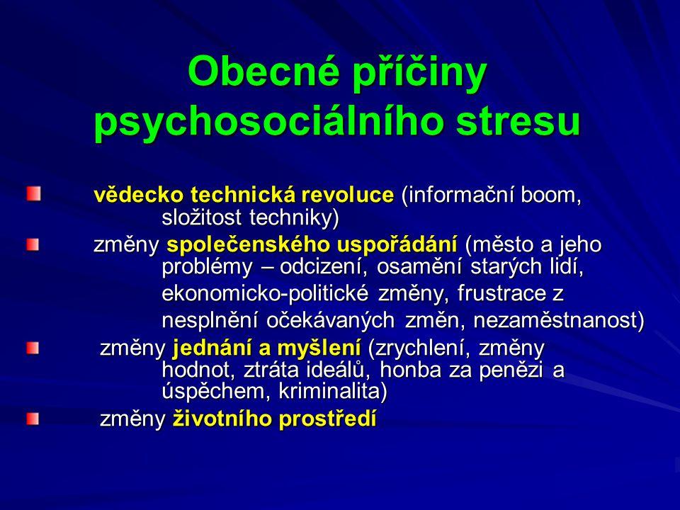 psychosociálního stresu