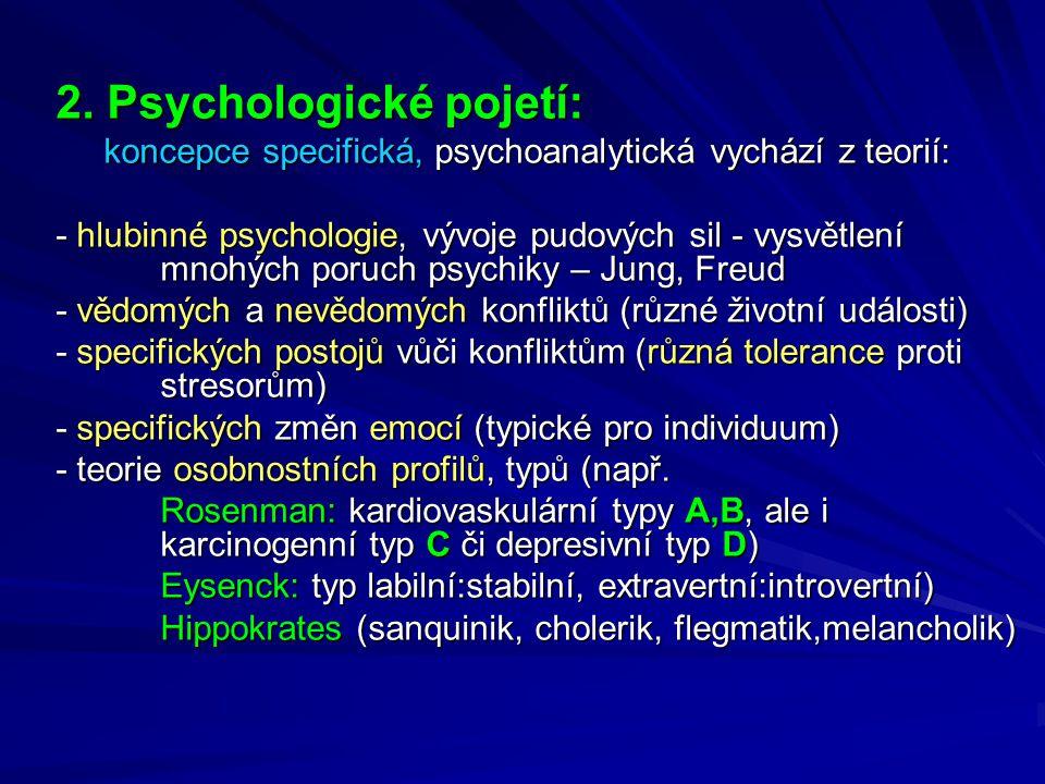 2. Psychologické pojetí: