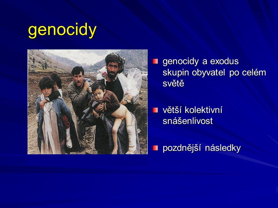 genocidy genocidy a exodus skupin obyvatel po celém světě
