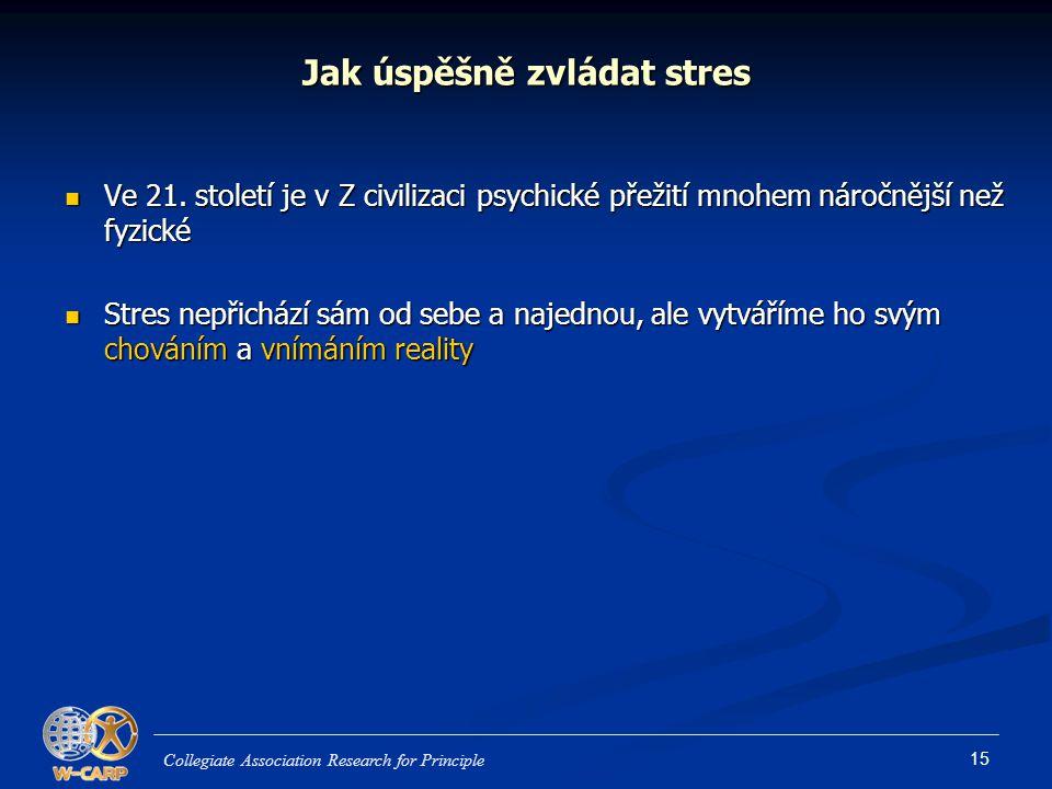 Jak úspěšně zvládat stres