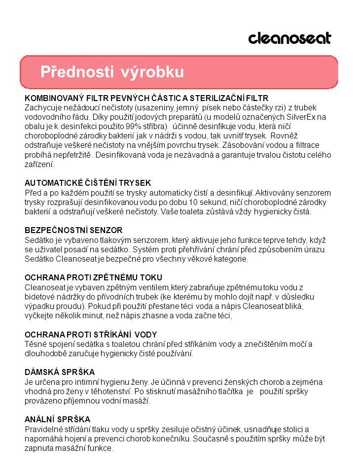 Přednosti výrobku KOMBINOVANÝ FILTR PEVNÝCH ČÁSTIC A STERILIZAČNÍ FILTR.