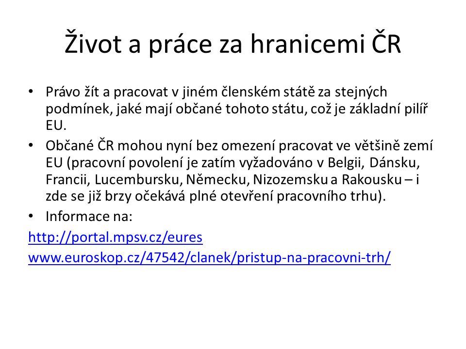 Život a práce za hranicemi ČR