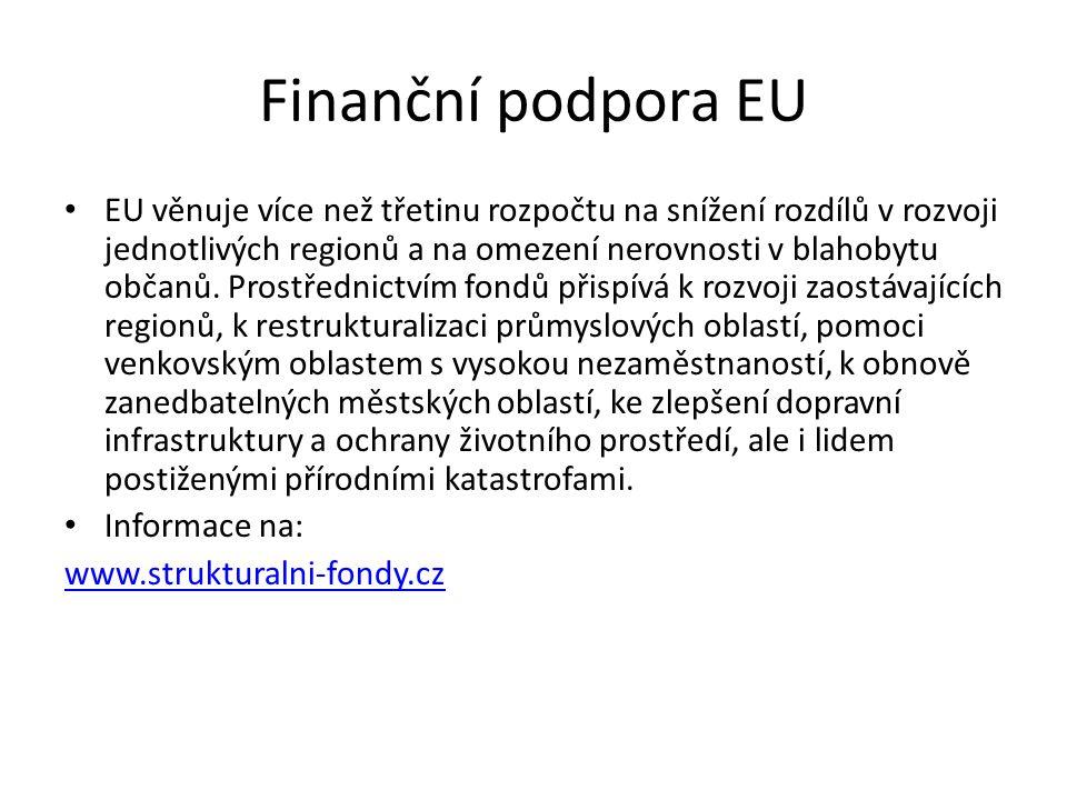 Finanční podpora EU