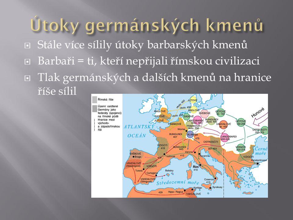 Útoky germánských kmenů