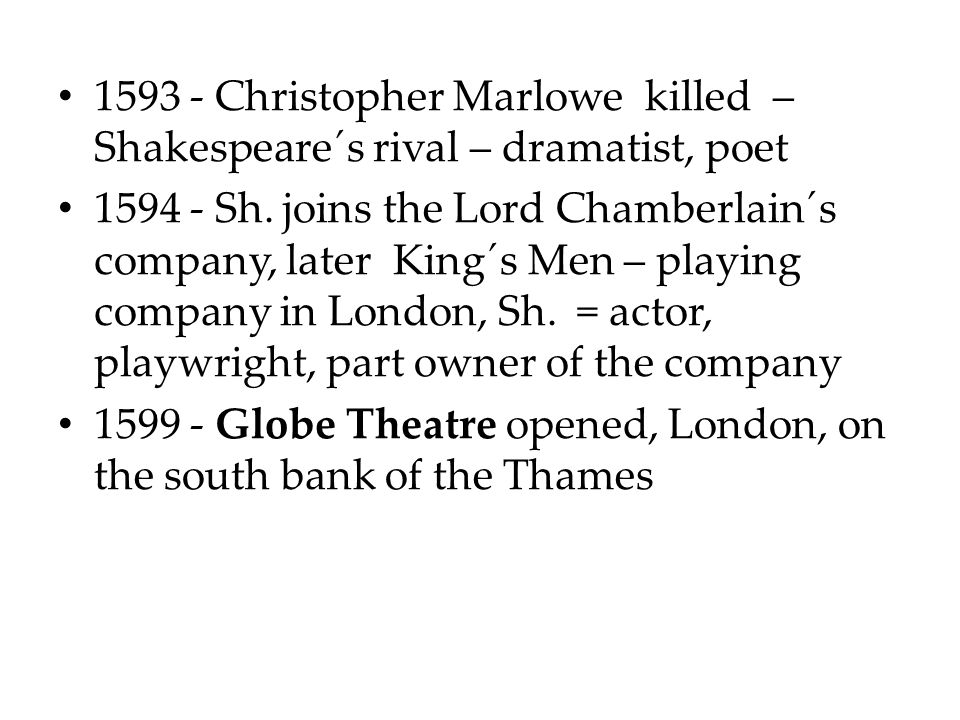 Christopher Marlowe killed – Shakespeare´s rival – dramatist, poet